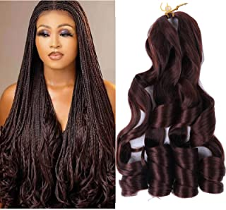 22 inch Bouncy Braiding Hair Pre Stretched 6 Pack Premium Loose Wavy Braiding Synthetic Hair Extensions For Black Women Fr...