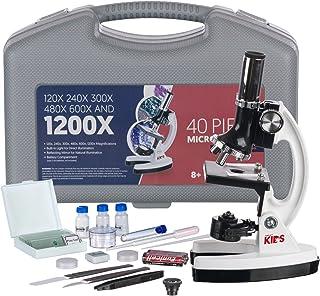 Amscope 120x-1200x 52-pcs Kids Beginner Microscope Stem Kit