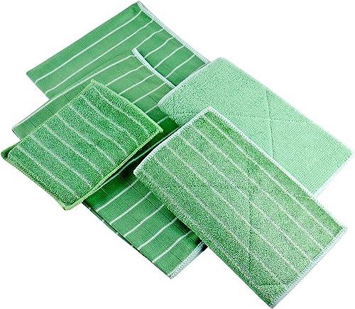 Lot de 5 Chiffons Bambou Microfibres - Nettoyer et lustrer Toutes Les Surfaces Lisses et fragiles -Vitre, carrosserie...