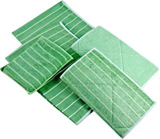Lot de 5 Chiffons Bambou Microfibres - Nettoyer et lustrer Toutes Les Surfaces Lisses et fragiles -Vitre, carrosserie, vit...