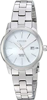 Women's ' Quartz Stainless Steel Casual Watch, Color:Silver-Toned (Model: EU6070-51D)