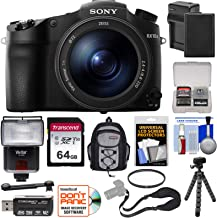 Sony Cyber-Shot DSC-RX10 III 4K Wi-Fi Digital Camera with 64GB Card + Battery & Charger + Backpack + Strap + Filter + Tripod + Flash + Kit