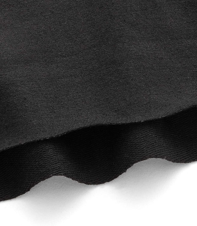 ROMWE Women's Casual Cat Print Long Sleeve Crop Top Sweatshirt Hoodies