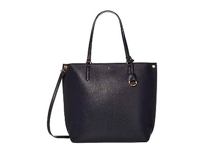LAUREN Ralph Lauren Merrimack Abby 33 (Lauren Navy) Tote Handbags