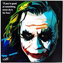 "Pop Art Superhero Quotes [Batman - The Dark Knight] Framed Acrylic Canvas Poster Prints Artwork Modern Wall Decor, 10""x10""..."
