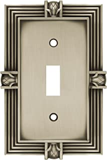 Franklin Brass 64464 Pineapple Single Toggle Switch Wall Plate/Switch Plate/Cover, Brushed Satin Pewter
