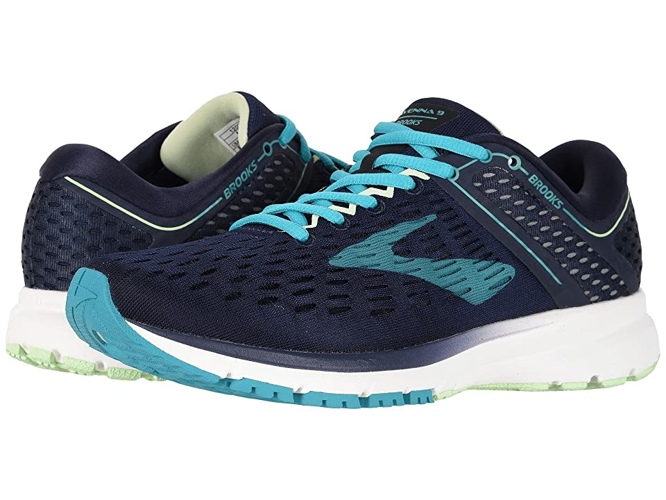 Brooks Ravenna 9 (Navy/Blue/Green) Women
