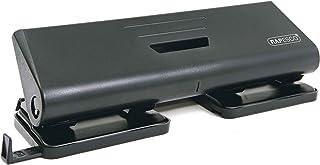 Rapesco 75-P papierperforator met 4 gaten en 16 vellen capaciteit met nauwkeurige gatgeleiding, zwart