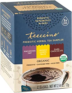 Sponsored Ad - Teeccino Prebiotic Herbal Tea – Prebiotic SuperBoost Tea Sampler – Support Your Probiotics with Vegan GOS &...