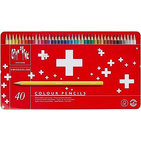 カランダッシュ スイスカラー色鉛筆 40色セット 缶入 1285-740 [日本正規品]