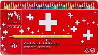CREATIVE ART MATERIALS Swisscolor Pencils Metal Box, Set of 40 (1285.740)