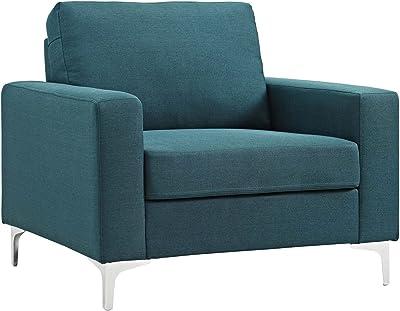 Amazon.com: Brika Home - Sillón de acento en color azul ...