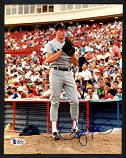 Roger Clemens Autographed 8x10 Photo Boston Red Sox Beckett BAS Q03127
