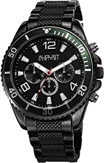 August Steiner Men's Mercury Swiss Quartz Multifunction Bracelet Watch