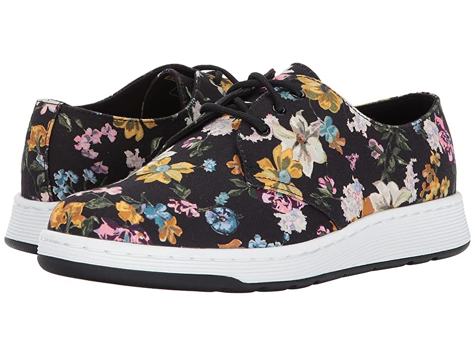Dr. Martens Darcy Floral Cavendish 3-Eye Shoe (Black Darcy Floral Fine Canvas) Women