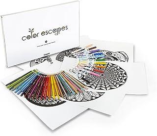 Set de actividades Crayola para adultos, edici›n Kaleidoscopes, 12 pÿginas coloreables de calidad pr?mium con dise?o de pa...