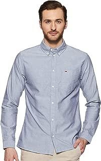 TOMMY HILFIGER Men's Solid Regular fit Casual Shirt