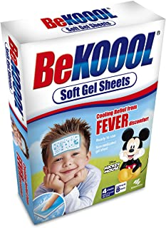 Be Koool Gel Sheets For Kids Fever 4 Each (Pack of 6)