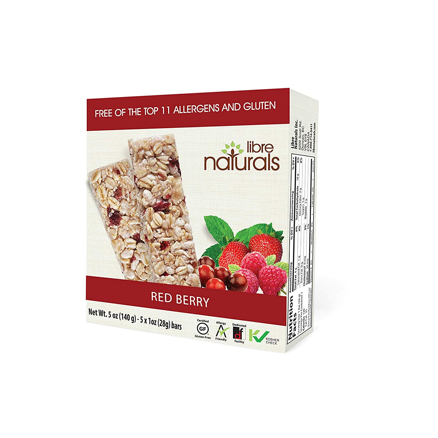Libre Naturals Cheap super special price Red Berry Chewy Bars Gluten-Free Granola - Popular products Vegan