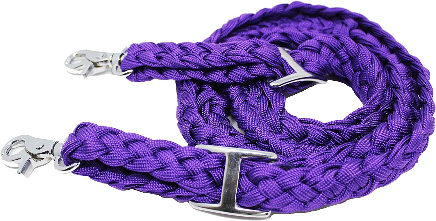 CHALLENGER Roping Knotted Horse Tack Barrel Western Reins Direct sale of Super popular specialty store manufacturer Nylon