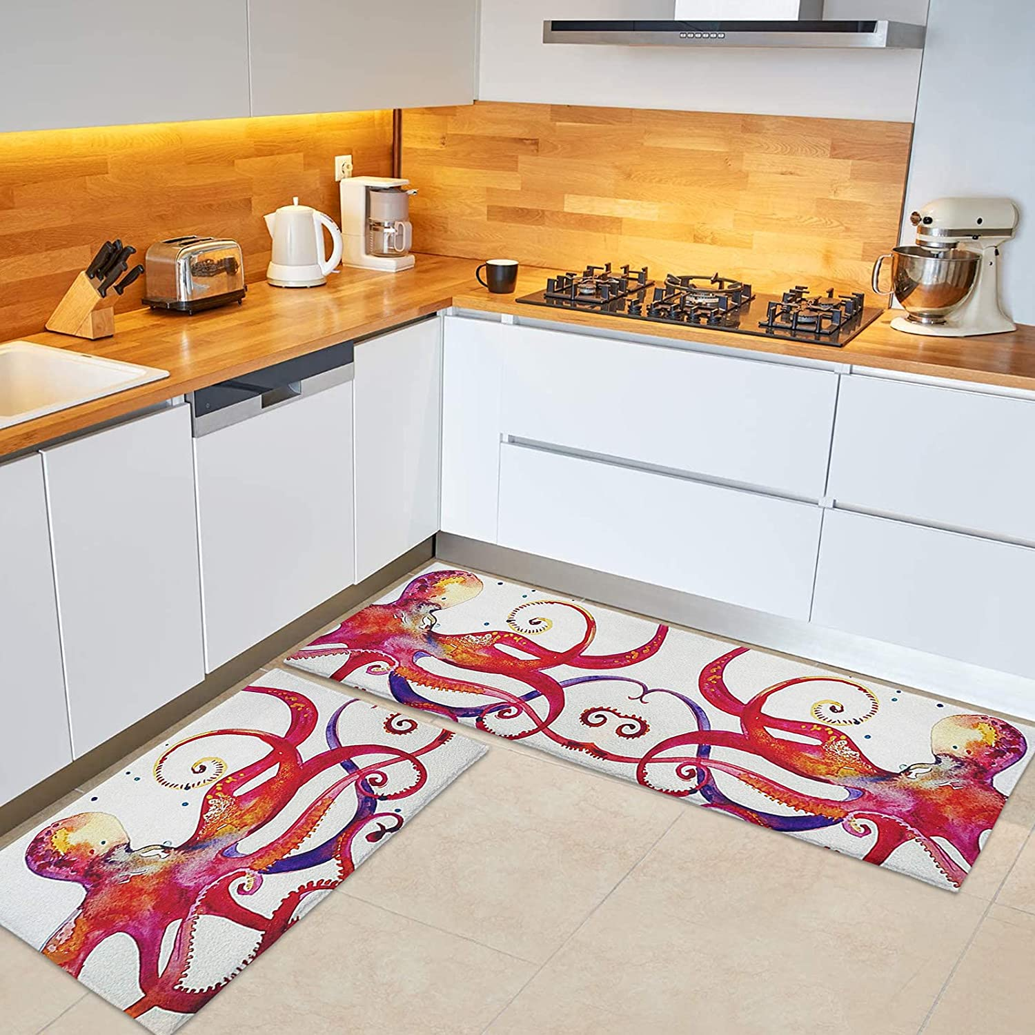 BABE MAPS Recommendation Octopus Extra Soft New product Anti-Skid Rugs Kitchen Mat