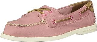 Sperry Women's Authentic Original Venice Boat Shoe, Rose Canvas, 7.5