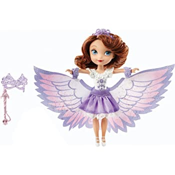 Disney Sofia The First 2-In-1 Costume Surprise Amber Butterfly Dress Doll Mattel BDH61