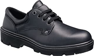 Tuffking 9061 S1P Black Leather Steel Toe Cap Uniform Safety Shoes Work Shoes