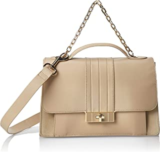 Tommy Hilfiger - Th Chic Leather Satchel, Bolsos maletín Mujer, Beige (Warm Sand), 1x1x1 cm (W x H L)
