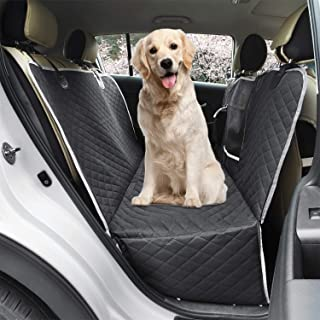 Dog Seat Cover Back Protector Car Hammock for Pets - Waterproof Scratchproof Soft Durable 600D Duty Oxford Cover with Mesh...
