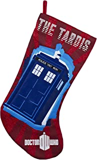 Kurt Adler Red Doctor Who Tardis Applique Stocking, 19-Inch