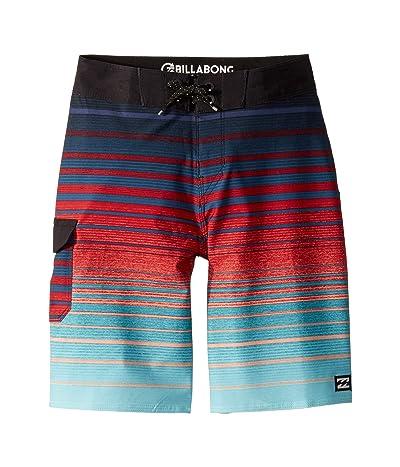 Billabong Kids All Day Stripe Pro Boardshorts (Big Kids) (Foam) Boy