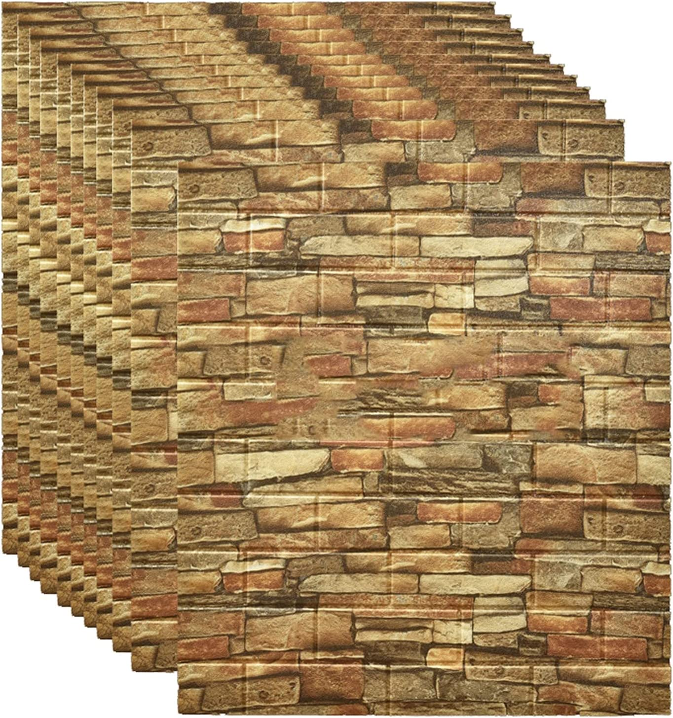 DLMSDG Wall Stickers 3D Brick Red Vintage B Wallpaper Superior Free shipping anywhere in the nation