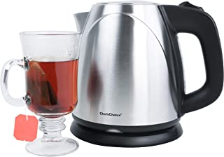Chef'sChoice 673 Cordless Compact Electric Kettle in Brushed Stainless Steel Features Boil Dry Protection and Auto Shut Of...