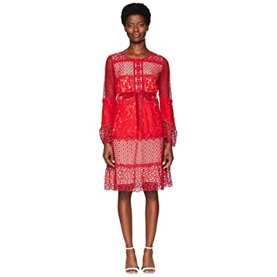 Boutique Moschino Patchwork Lace Dress (Fantasy Print Red) Women