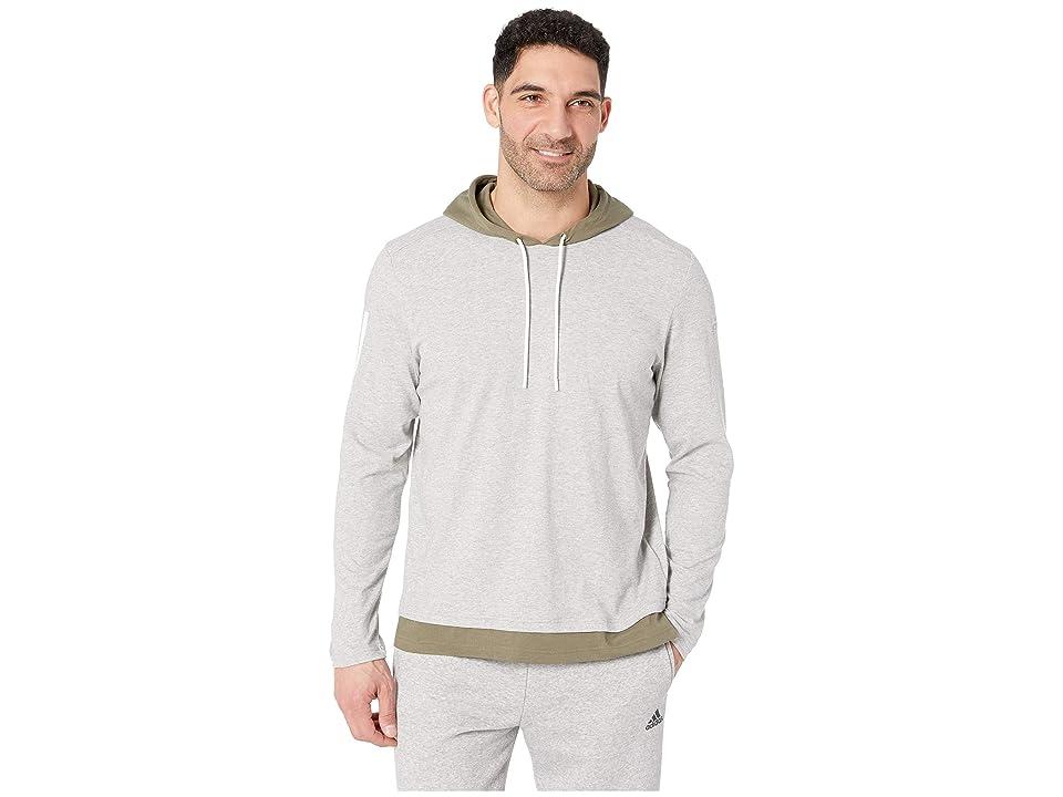 adidas Sport To Street Pullover (Medium Grey Heather/Raw Khaki) Men