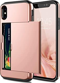 iPhone XS MAX Case,Hybrid iPhone XS MAX Wallet Case With Card Holder, Shell Heavy Duty Protection,Anti-Scratch Soft Rubber...