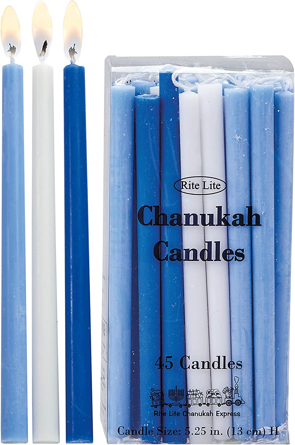 Max 40% OFF Rite Lite NEW before selling Deluxe Chanukah Candles Blue Assorted - Light