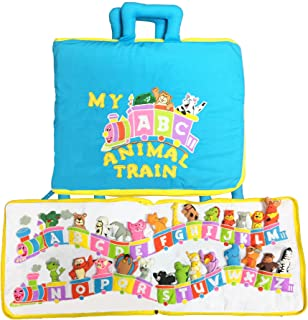 Pockets of Learning My ABC Animal Train Travel Bag, Activity Busy Book for Toddlers and Children for Children, Alphabet Quiet Book