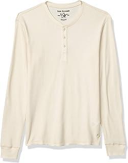 Men's Logo Long Sleeve Thermal Henley T-Shirt