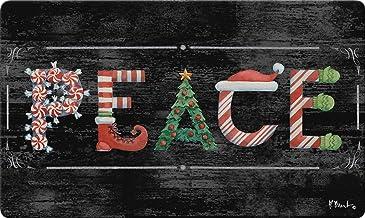 Toland Home Garden 800464 Holiday Peace, Winter Christmas, Doormat