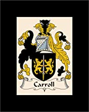 Carpe Diem Designs Carroll Coat of Arms/Carroll Family Crest 8X10 Photo Plaque, Personalized Gift, Wedding Gift