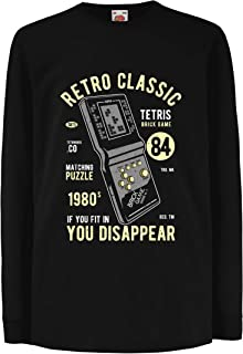 lepni.me Kids T-Shirt Retro Classic Video Gaming '80s Tetris Brick Game