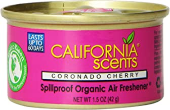 California Scents Spillproof Organic Air Freshener, Coronado Cherry, 1.5 Ounce Canister (Pack of 4)