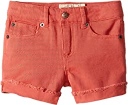 Jenna Stretch Cuffed Shorts in Spiced Coral (Little Kids)