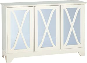 Target Marketing Systems Reflections Buffet/Console with Mirror, White
