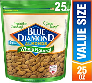 Blue Diamond Almonds, Raw Whole Natural, 25 Ounce