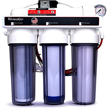 Hydroponic (Plant Growth) - High-Efficiency Permeate Pumped Reverse Osmosis Water Filter System for Low Water Pressure Homes | 150 GPD Membrane Capacity