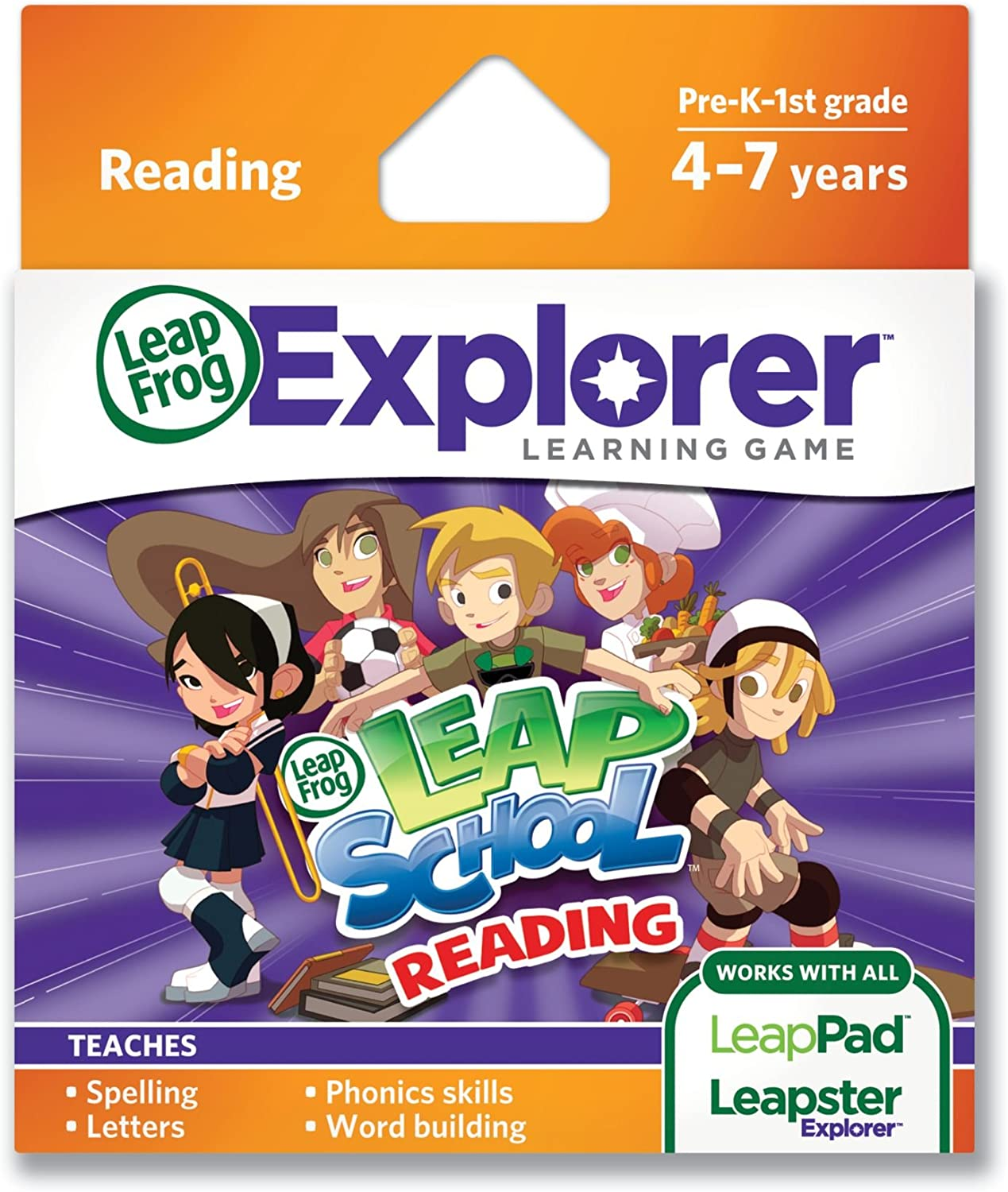 LeapFrog LeapSchool Reading Learning Game Great interest Recommended with LeapPad Ta works