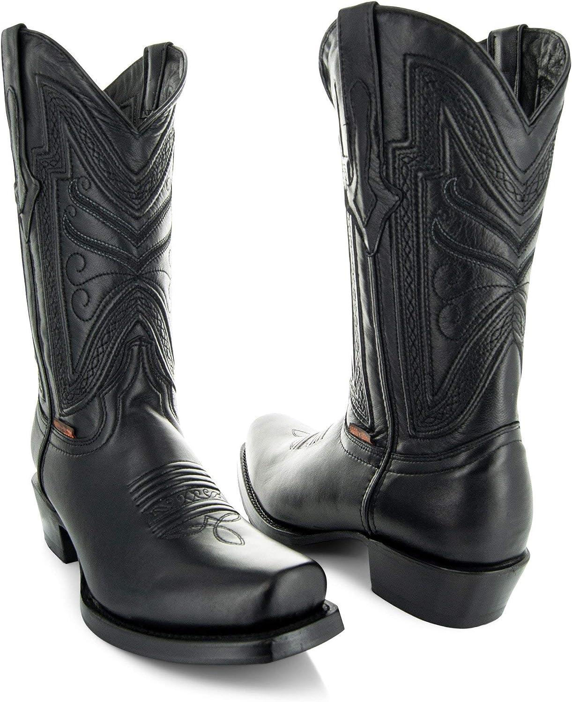 Soto Boots Mens Max 64% OFF Narrow Square Toe Super beauty product restock quality top! H50029 Cowboy
